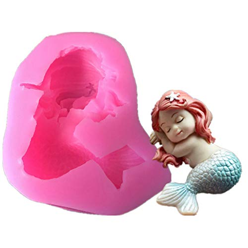 niumanery 3D Sleeping Cute Baby Silicone Mold Fondant Mould Chocolate molds for Decorating Cakes, Chocolate