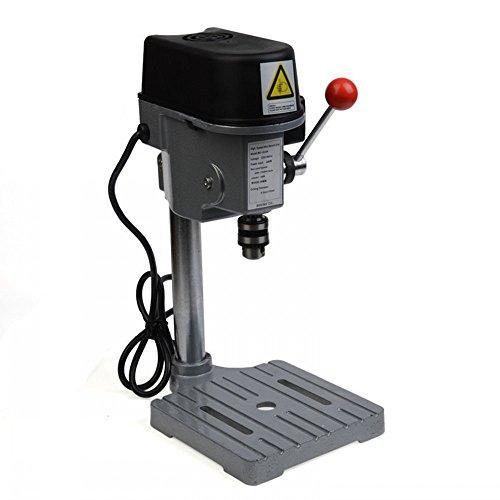 ABEST Mini máquina de prensa de 3 velocidades 150 W mini banco taladro de mesa para manualidades joyeros y aficionados