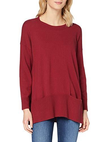 Sisley Sweater L/s Maglione, Rhubarb 19v, XS Donna