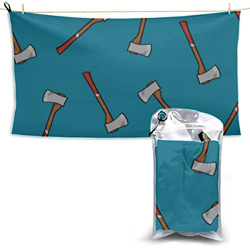 Colorful Cartoon Cute Idyllic Axe Travel Towels Fast Drying Lightweight Fun Oversized Beach Towel Traveler Towel Towels For Camping 27.5'' X 51''(70 X 130cm)best For Gym Travel Camp Yoga Fitnes