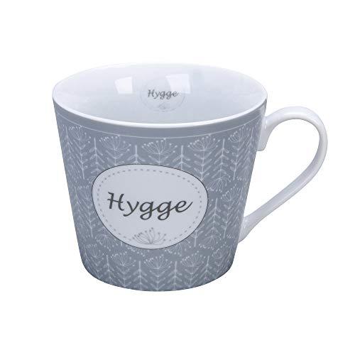 Krasilnikoff - Happy Cup - Becher, Tasse mit Henkel - Hygge - Porzellan - H9 x Ø10 cm - Volumen: 400 ml