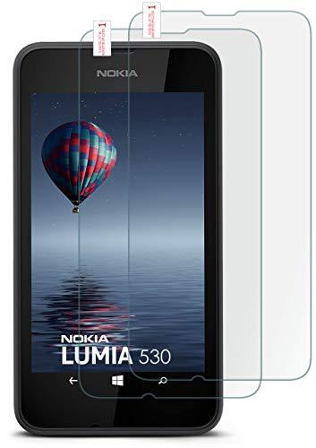 MoEx® Matte Panzerglasfolie aus 9H Echtglas passend für das Nokia Lumia 530   Kratzfest, Entspiegelnd + Reduziert Fingerabdrücke