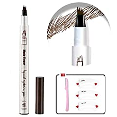 【Natural Looking Defined Tat Brows 】: This eyebrow Microblade pen creates very natural looking and defined brows that beautifully frame your face to compliment all makeup looks. 【Waterproof, Smudge-Proof All Day】: The long-lasting formula ensures tha...