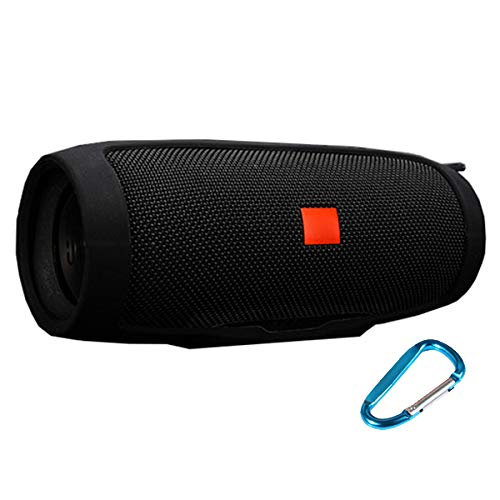 LuckyNV Charge 3 Cases,Travel Carrying Protective Carry Silicone Cover Bag for JBL Charge 3 Bluetooth Speaker Black