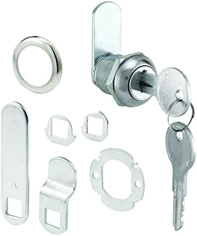 Prime Line MP4454 Cabinet Lock 5 8 in Diecast with Steel Cams Chrome Different Y11 Key 1 Set product image