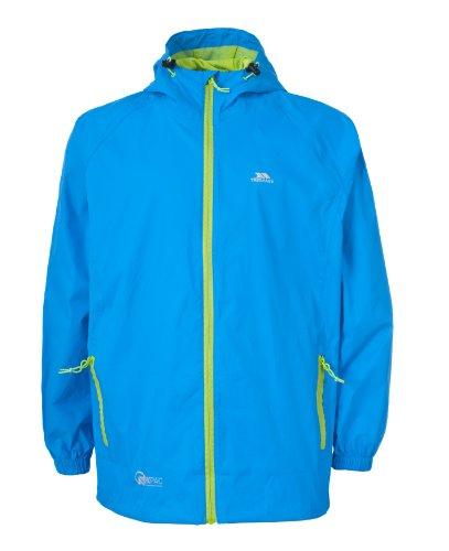 Trespass Qikpac Jacket, Cobalt, 11/12, Kompakt Zusammenrollbare Wasserdichte Jacke für Kinder / Unisex / Mädchen und Jungen, 11-12 Jahre, Blau