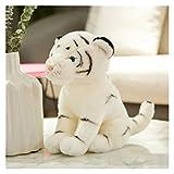Hjdmcwd Peluche Lindos Tigres de Peluche simulación de Juguete Blancos Tigres Suaves muñecas de Relleno Suave cojín Peluche Juguete para niños (Farbe : White Tiger, Höhe : 36cm)