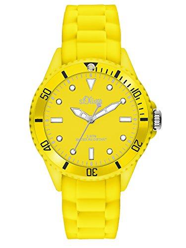 s.Oliver Damen-Armbanduhr XS Analog Quarz Silikon SO-2747-PQ