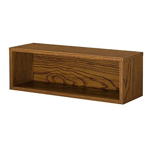 [en.casa]® Armario de diseño combinado - sistema de estantería de pared - 45x15x15 cm - nogal