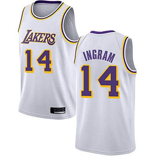 SHR-GCHAO Camiseta para Hombre, Camiseta De Baloncesto para Hombre De Los Angeles Lakers # 14 Ingram, Camiseta Sin Mangas, Transpirable, Cómoda,M(170~175cm)
