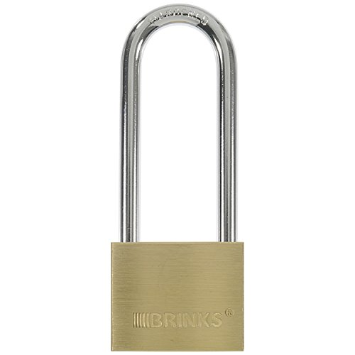 BRINKS 171-42001 40mm Solid Brass Padlock with 2-1/2' Shackle