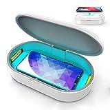 Sterilizzatore UV, Lampada di Sterilizzazione LED UV Multifunzionale con Caricatore Wireless Diffusore di Aromi, per Cellulare, Chiave, Gioielli, Orologio