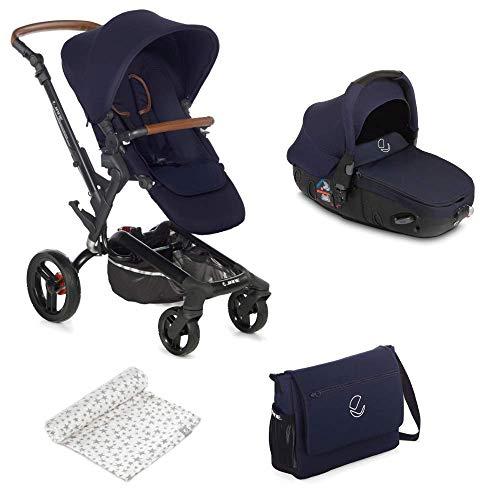 Jané Rider - Cochecito de bebe 2 piezas, silla de paseo y portabebé convertible matrix light 2, freno de mano, chasis de aluminio, plegado compacto, incluye bolso, unisex, color sailor
