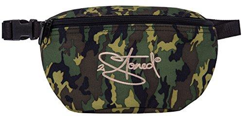 2Stoned Hüfttasche Bauchtasche mit Stick Classic Logo in Camouflage für Herren und Jungen
