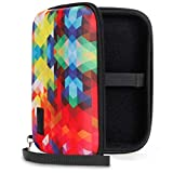USA GEAR Genteel Lancing Diabetic Case with Protective Hard Shell Exterior, Zipper and Detachable Wrist Strap - Travel Organizer Pocket Holds Insulin, Lancets, Needles and More Accessories - Geometric