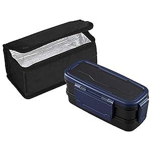 オーエスケー ロックフォー お弁当箱 2段 保冷バッグ付 BLW-30HF