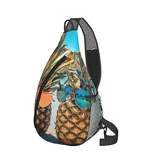 Mochila de cabestrillo de piñas en el pecho de la playa, bandolera ligera, mochila de viaje, bolsa de mensajero para senderismo, camping