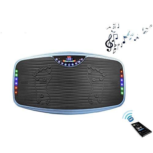 WYYH Vibrationstrainer, Bluetooth-Musik Vibrationstrainer Vibrationsplatte Smart-Bildschirm Vibrationsplatte Fitness, Stumm Timing-Funktion Dynamische Lichter Fitnessgeräte Schlankheitsmaschine