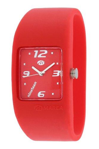 Marea Damen Nineteen Silikonuhr Analog Quarz Rot/Rot, Innenumfang 16Cm. B35501/32