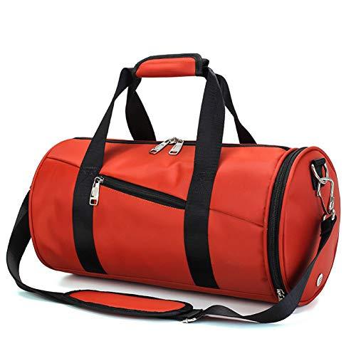 Bolso de deportes, bolsa de gimnasia, bolso, bolsillo de compartimiento de zapatos, equipaje para hombres y mujeres, cabina de viaje, equipaje de casetas de vacaciones, kit de camping de la noche,Rojo