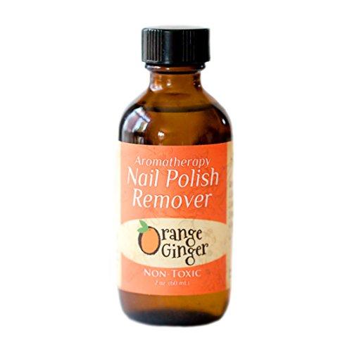 Marley Marie Naturals Nail Polish Remover- Orange Ginger (Energy) 4 oz. bottle
