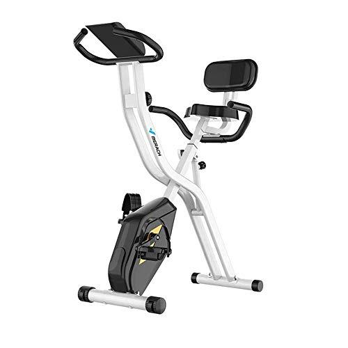 UIZSDIUZ Cubierta estacionaria la Bicicleta estática magnética Vertical de Bicicletas Monitor LCD con 8 Nivel de Resistencia, hogar Máquinas de Ejercicios de Cardio, 220 LB Capacidad MAX