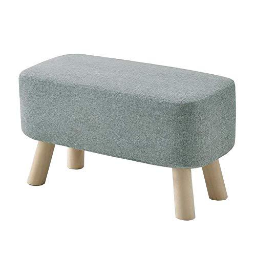 JIEER-C vrijetijdsstoel, kruk, voetenbank, schoenenbank, huis, sofa, kruk, massief hout, salontafel, kruk, afneembaar, wasbaar, robuust 60cm T5