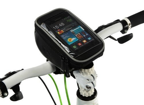 """ROSWHEEL Bicycle Handlebar Bag Front Tube Bar Basket Frame Pannier For 4.8"""" Touch Screen Cell iPhone HTC SAMSUNG"""