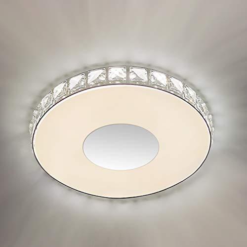 Crystal Flush Mount Ceiling Light, GALTLAP Modern LED Lighting Close to Ceiling Light Fixtures, 10.6