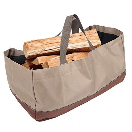 Firewood Carrier Log, Large Canvas Log Carrier Tote Bag, Firewood Holder...