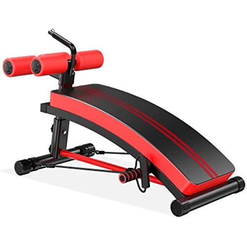 WyaengHai Trainingsbank Faltbare Gewicht Bänke einstellbar Gewichtsbank mehrzusetzen Neigung/Ablehnung Trainingsbein-Übung for Zuhause Fitnessstudio (Farbe : Red, Size : 126x58x43cm)