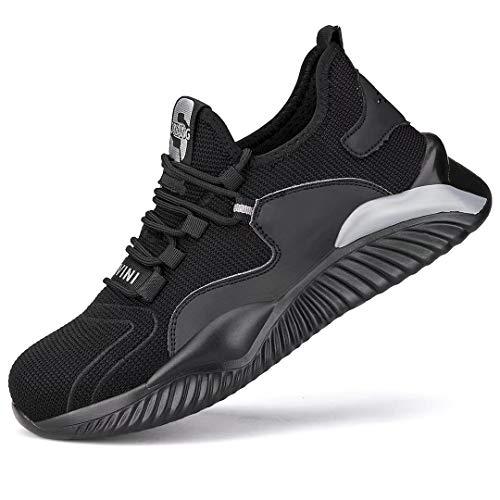 Zapatos Seguridad Mujer Hombre Ligeros s3 Calzado de Seguridad Mujer Transpirables Punta de Acero Zapatillas de Trabajo ⭐