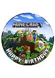 Tortenaufleger Geburtstag Gamer Spiele Fan Motiv Essbare Tortendeko Tortenbild Kuchendekoration Fondant Rund Ø20CM