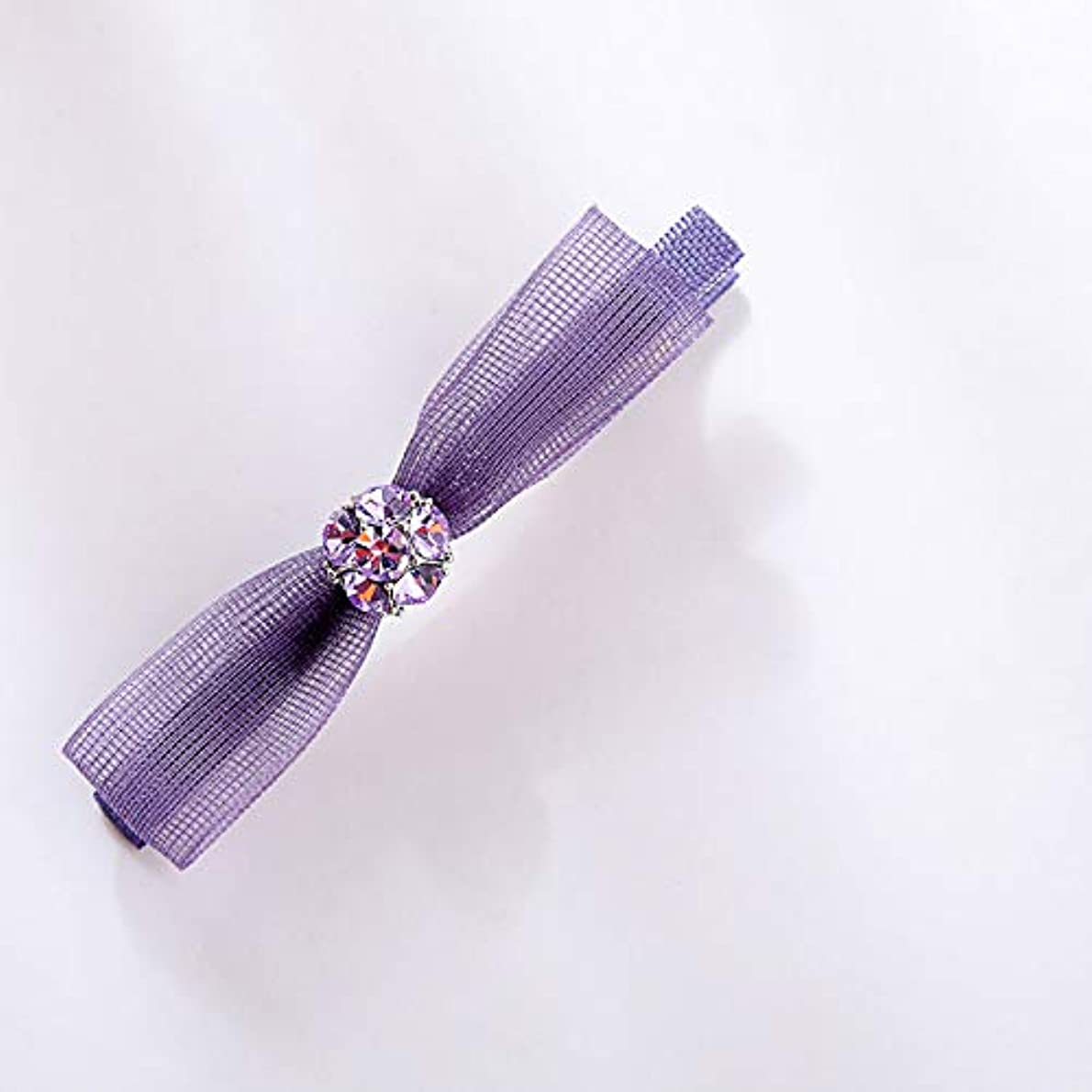 タイピストヘビー飢饉HuaQingPiJu-JP ファッションロゼットヘアピン便利なヘアクリップ女性の結婚式のアクセサリー(パープル)