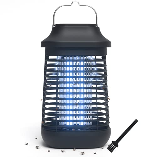 Bug Zapper Outdoor/Indoor,4200V High Powered Waterproof Electronic Mosquito Killer,15W UVA Mosquito Lamp Bulb,Fly Traps Patio Insects Killer,Trap Killer for Home,Kitchen, Backyard, Camping