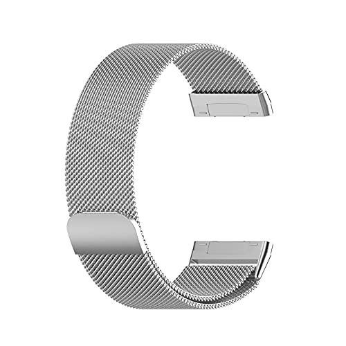 ZBMZLX Reloj de Malla de Acero Inoxidable Reemplazo de Bucle Ajustable Lanzamiento rápido Correa de Bloqueo magnético para Reloj Inteligente Muñeca Mujeres Mujeres Correa Reloj (Color : Silver)