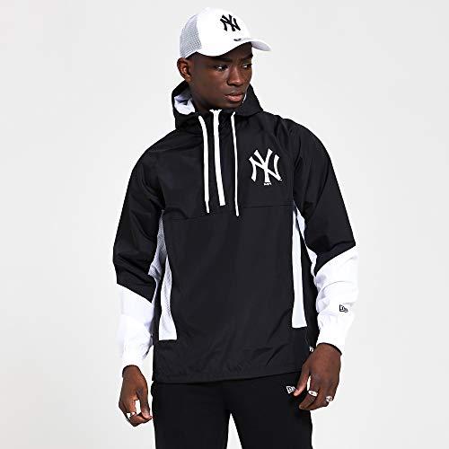 New Era MLB Print Infill Windbreaker Neyyan Chaqueta, Hombre, Black, S