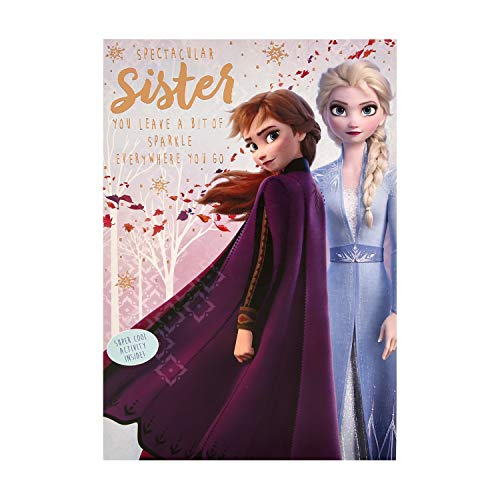 Biglietto Di Auguri Di Compleanno Disney Frozen Per Sorella Di Hallmark – Con Spot The Difference Activity Inside