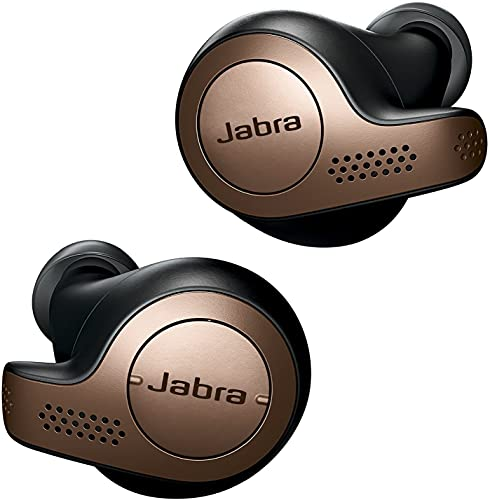Jabra Elite 65t Alexa Enabled True Wireless with Mic in Ear Earbuds with Charging Case, 15 Hours Battery, Copper Black, Designed...