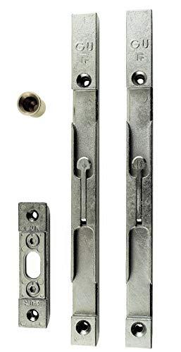 GU Secury Türkantriegel Komplett Set 16mm (2 Riegel + Schließblech + Bodenhülse)