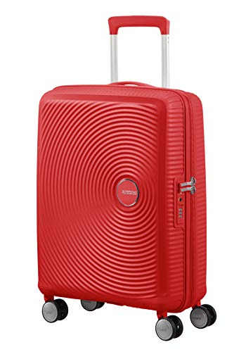 American Tourister Soundbox Spinner Small Expandable Bagaglio A Mano, Rosso (Coral Red), Spinner S (55 cm - 41 L)