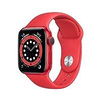 最新 Apple Watch Series 6(GPSモデル)- 40mm (PRODUCT)REDアルミニウムケースと(PRODUCT)REDスポーツバンド