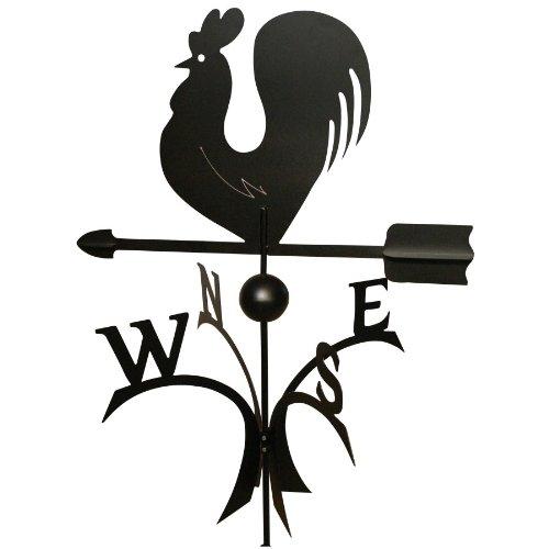 Wetterfahne 57x62,5 cm Motiv Hahn schwarz Stahl Windspiel Kugelgelagert