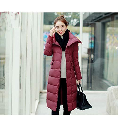 GDRFHJZ dames effen kleur slank was dun in Europa en Amerika grote werven dikke warme jas jas