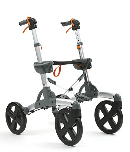 Volaris Patrol Rollator Walker [Wide Size] Premium All-Terrain Four Wheeled Walker with Seat - Lightweight Folding for Easy Storage & Travel