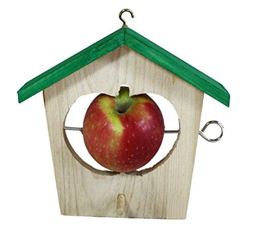 Elmato 10200 Apfelhäuschen 1-er/Futterhaus für Äpfel und Meisenknödel ca. 20x18 cm