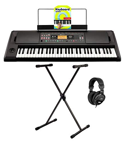 Korg EK-50 Limitless Keyboard Set (Entertainer Keyboard mit 61 Tasten, 790 Sounds, 59 Drumkits & 290 Styles inkl. X-Keyboardständer, Kopfhörer & Keyboardschule) Schwarz