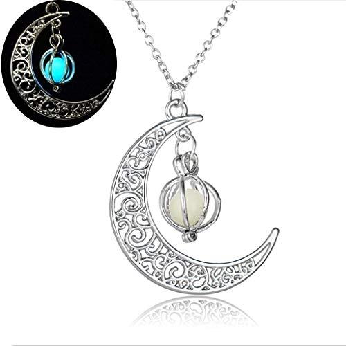 Leuchtende Halskette für Damen, Kürbis-Laterne, Mond, Halskette, Anhänger, Schmuck, nützlich zu verwenden