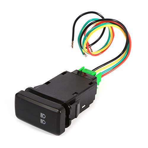 YOPOTIKA 1Pc 12V 5 Pin Car Auto Push Led Interruptor de Palanca de Luz Trasera para Toyota Landcruiser Hilux Prado Fj Negro