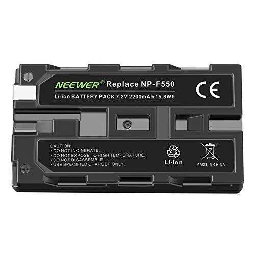 Neewer–Pila recargable batería de repuesto NP-F550/570/f330Cámara 2100mAh batería para Sony Cybershot D Series DSC de D700Digital 8DCR-DVD910tr7000trv103DCR-DVD910TRV110TRV120TRV85CCD-TRV107CCD-TRV87E CCD-TRV90CCD TRV91DCR-SR42A TRV9CCD de TR3300(solo batería)